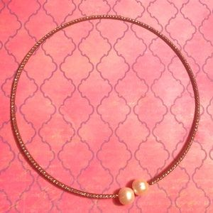 Jewelry - Cubic Zirconia and Pearl Choker Style Necklace